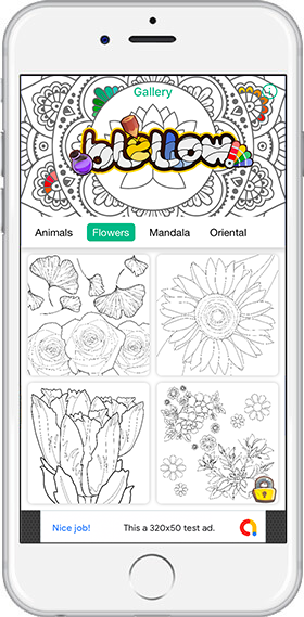 Blellow Flower coloring